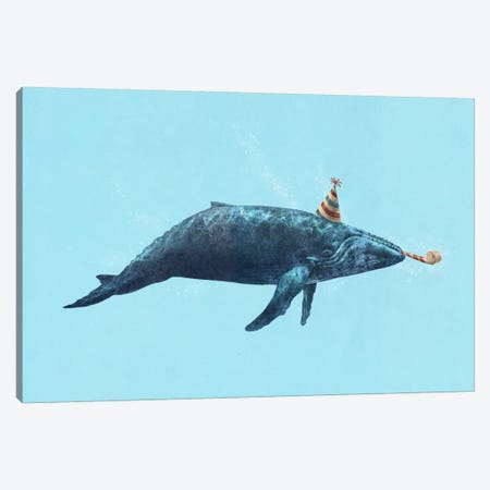 Party Whale Landscape Canvas Print #TFN155} by Terry Fan Canvas Art