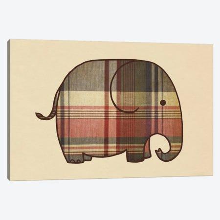 Plaid Elephant Landscape Canvas Print #TFN159} by Terry Fan Canvas Print