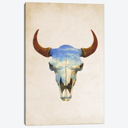 Big Sky Portrait Canvas Print #TFN15} by Terry Fan Art Print