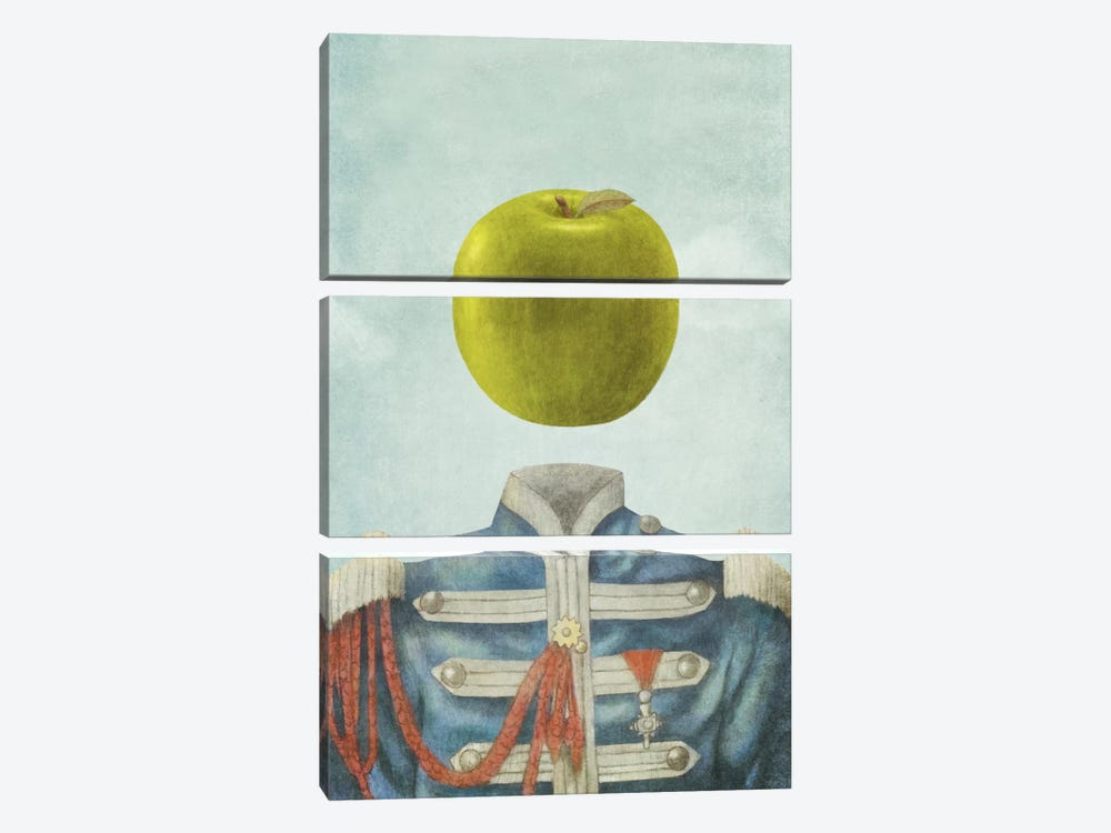 Sgt. Apple by Terry Fan 3-piece Canvas Art