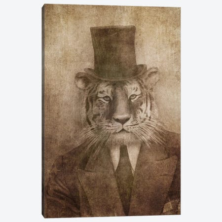 Sir Tiger Canvas Print #TFN176} by Terry Fan Canvas Art