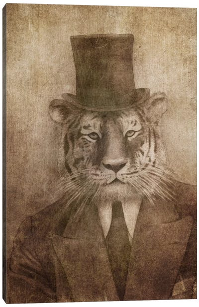 Sir Tiger Canvas Art Print