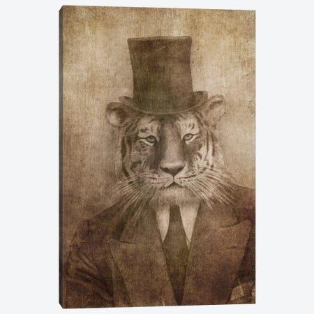 Sir Tiger Canvas Print #TFN176} by Terry Fan Canvas Art