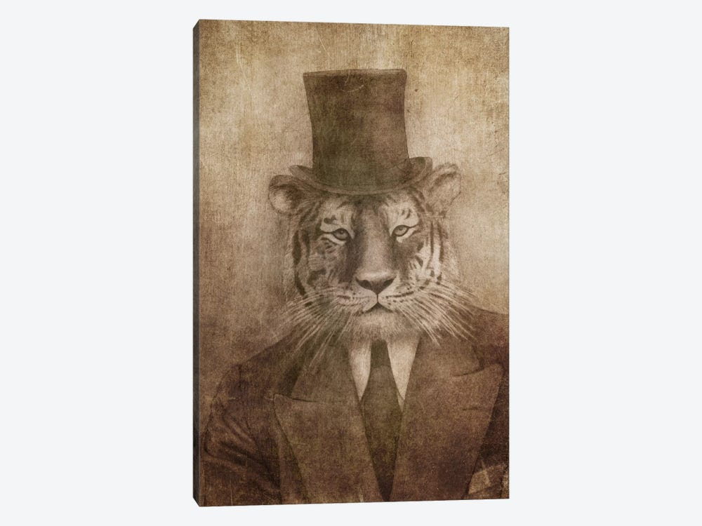 Sir Tiger by Terry Fan 1-piece Canvas Wall Art