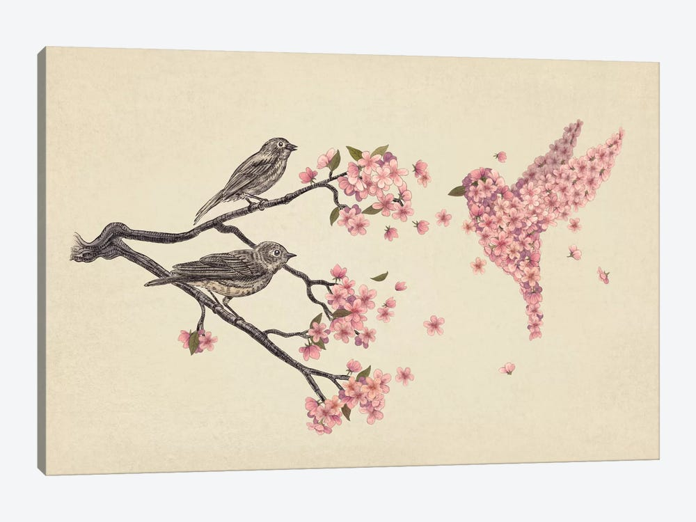 Blossom Bird by Terry Fan 1-piece Canvas Print