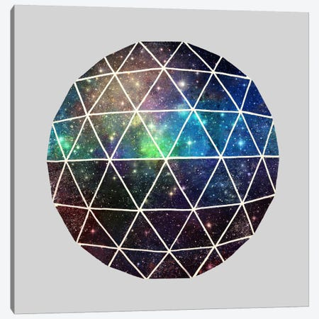 Space Geodesic Canvas Print #TFN182} by Terry Fan Canvas Wall Art