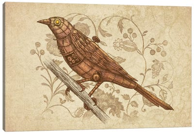 Steampunk Songbird Canvas Print #TFN185