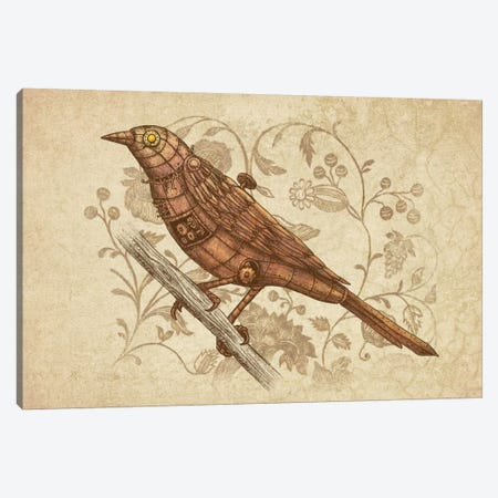 Steampunk Songbird Canvas Print #TFN185} by Terry Fan Art Print