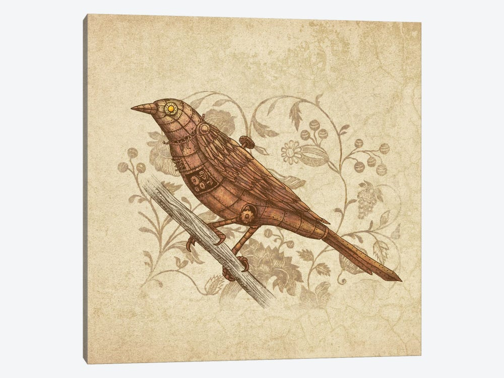 Steampunk Songbird Square by Terry Fan 1-piece Art Print