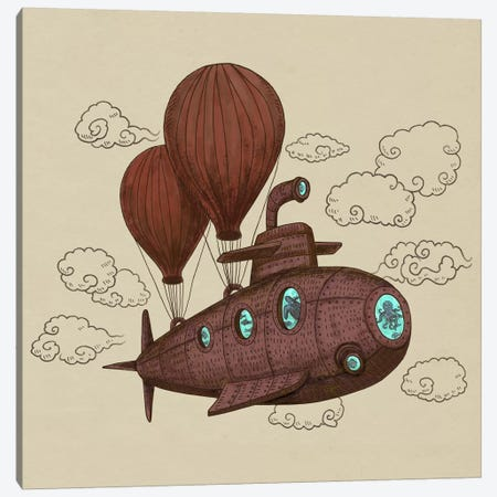 The Fantastic Voyage Canvas Print #TFN196} by Terry Fan Canvas Wall Art