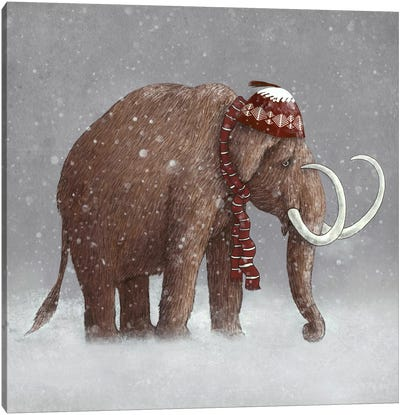 The Ice Age Sucked Square Canvas Art Print