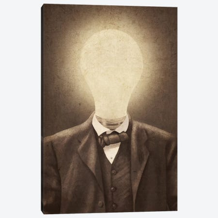 The Idea Man Canvas Print #TFN200} by Terry Fan Canvas Art Print