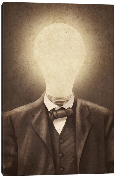 The Idea Man Canvas Art Print