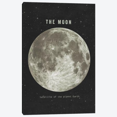 The Moon Landscape Canvas Print #TFN205} by Terry Fan Canvas Art