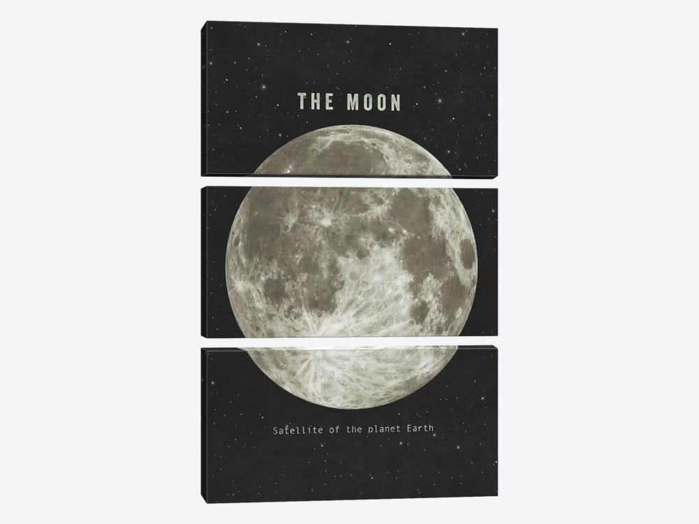 The Moon Landscape 3-piece Canvas Artwork