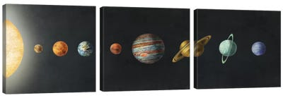 The Solar System Black Canvas Art Print
