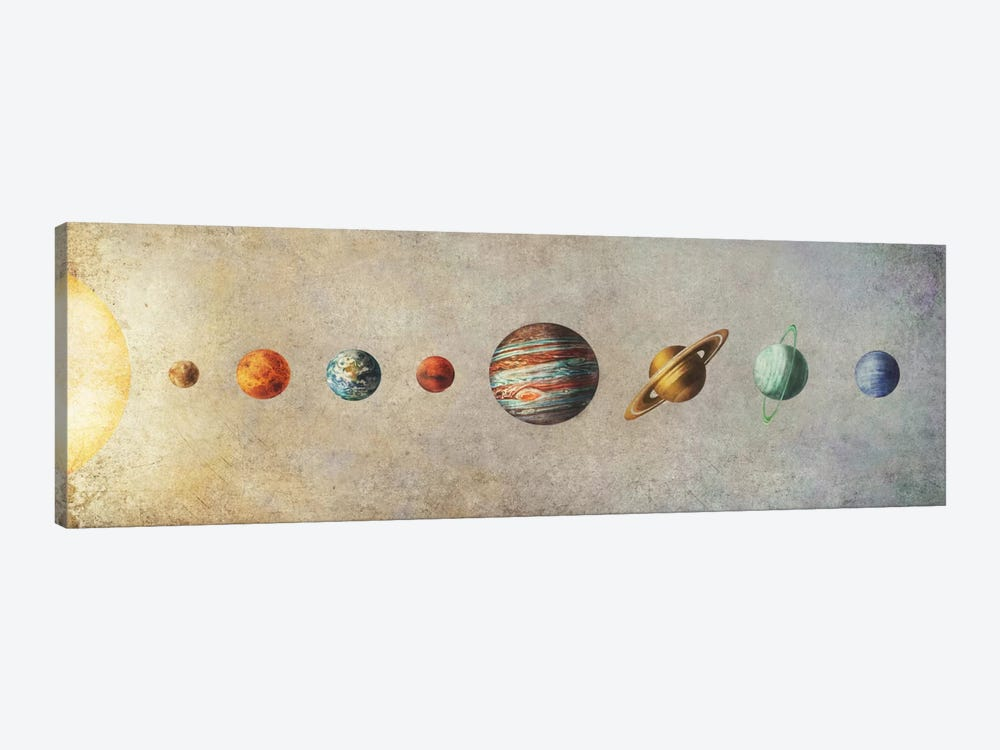 The Solar System by Terry Fan 1-piece Canvas Artwork