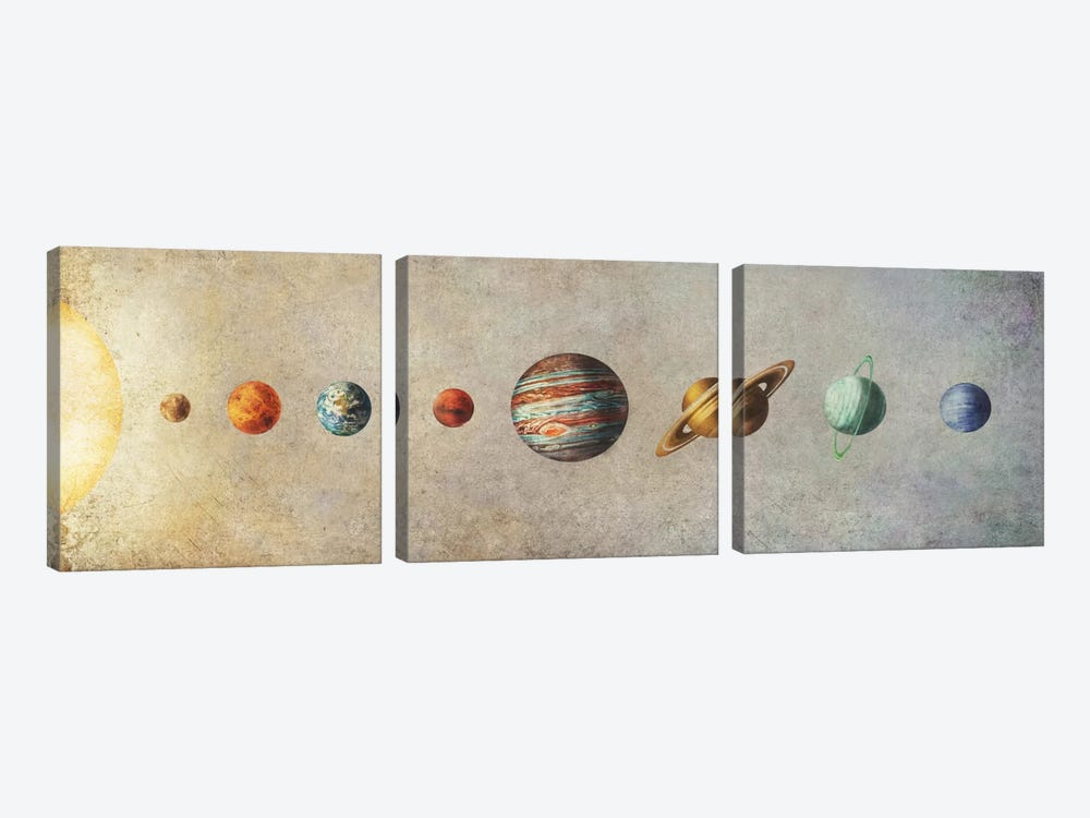 The Solar System by Terry Fan 3-piece Canvas Wall Art
