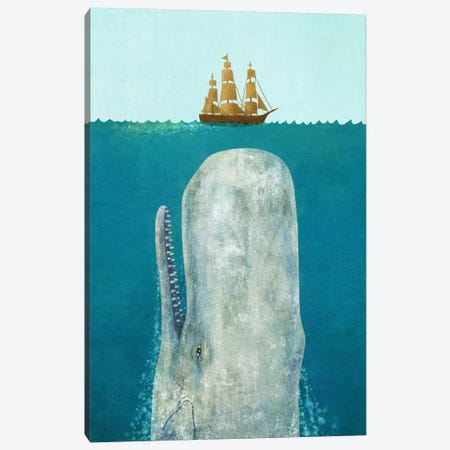 The Whale Canvas Print #TFN208} by Terry Fan Canvas Print