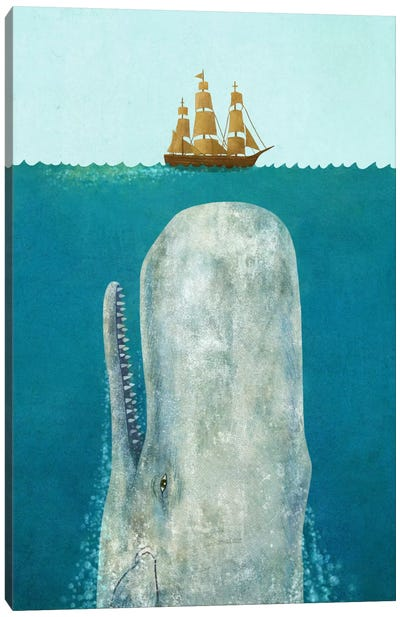 The Whale Canvas Art Print