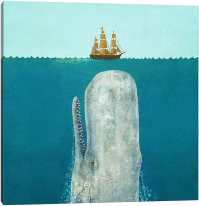 The Whale Square Canvas Print #TFN209