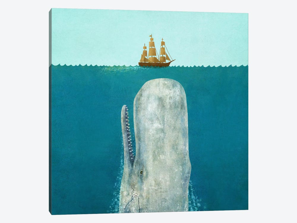The Whale Square by Terry Fan 1-piece Canvas Wall Art