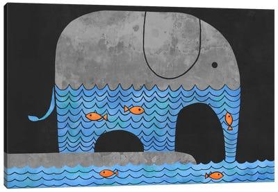 Thirsty Elephant Canvas Print #TFN210