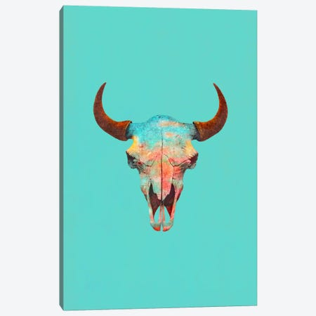 Turquoise Sky Portrait Canvas Print #TFN219} by Terry Fan Canvas Wall Art