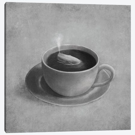 Whale In A Teacup Square Canvas Print #TFN226} by Terry Fan Canvas Wall Art