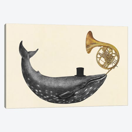 Whale Song Canvas Print #TFN228} by Terry Fan Art Print