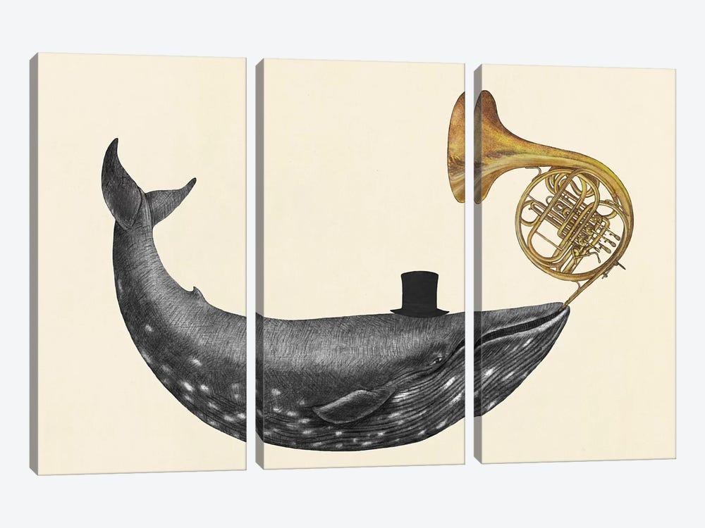 Whale Song by Terry Fan 3-piece Canvas Art Print