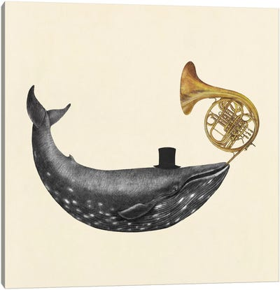 Whale Song Square Canvas Art Print