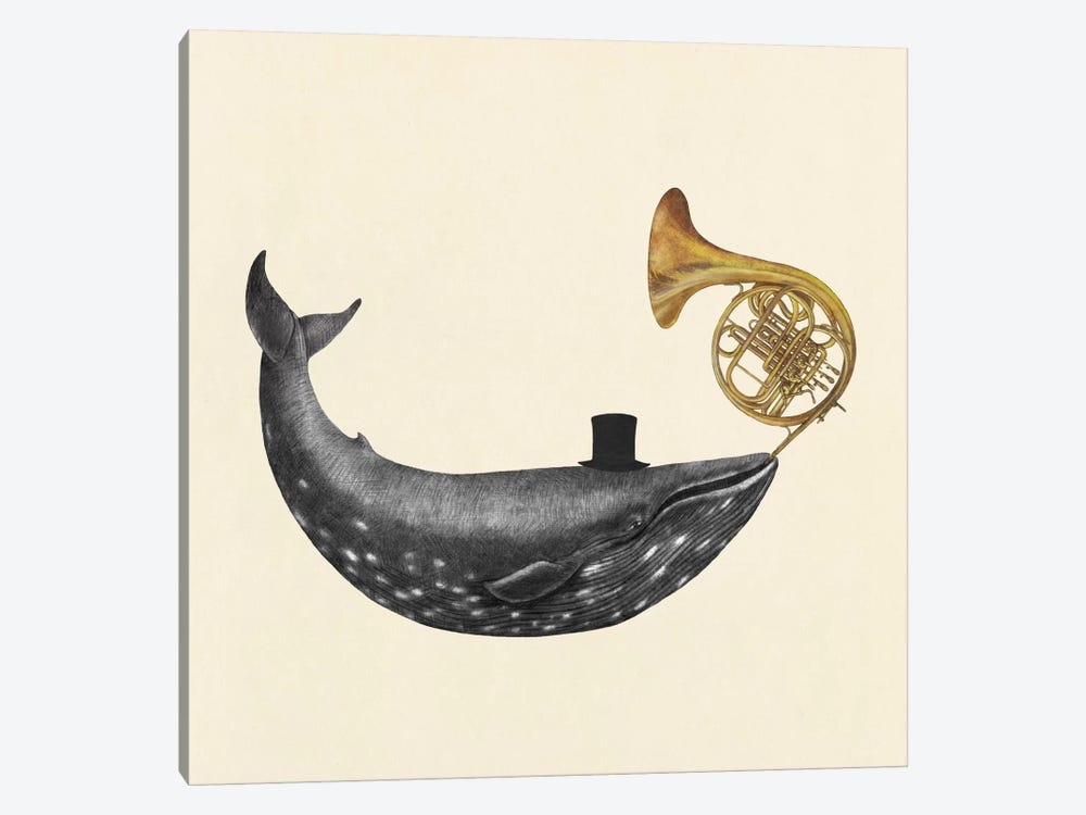 Whale Song Square by Terry Fan 1-piece Canvas Art
