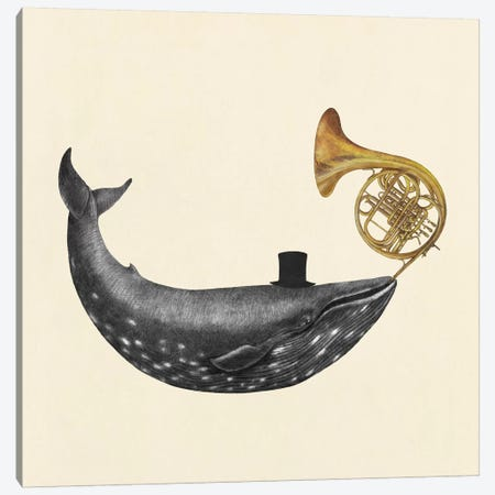 Whale Song Square Canvas Print #TFN230} by Terry Fan Canvas Art