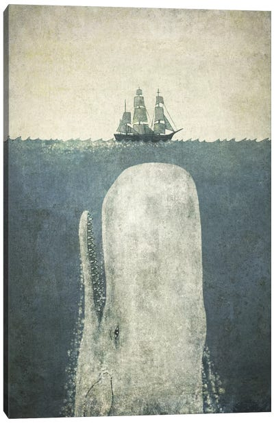 White Whale Canvas Art Print
