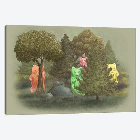 Wild Jelly Bears Canvas Print #TFN233} by Terry Fan Canvas Artwork