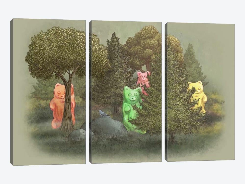 Wild Jelly Bears by Terry Fan 3-piece Art Print