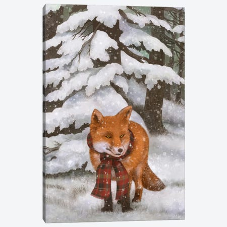 Winter Fox Canvas Print #TFN234} by Terry Fan Canvas Art Print