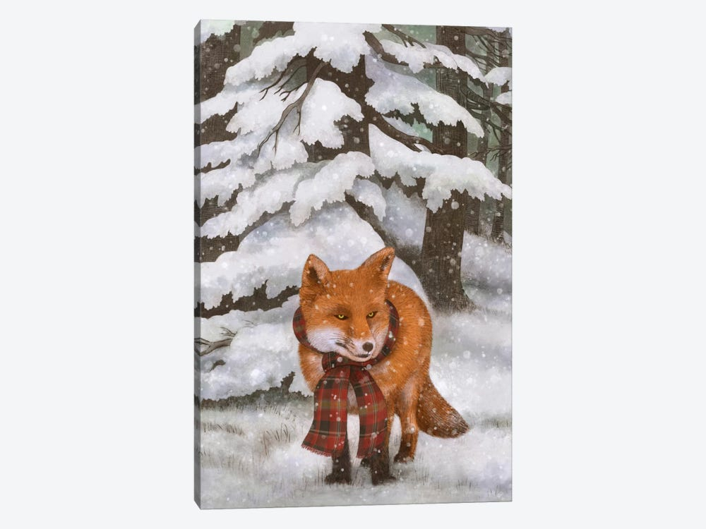Winter Fox 1-piece Canvas Artwork