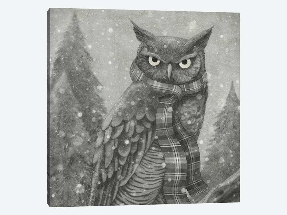 Winter Owl Square by Terry Fan 1-piece Art Print