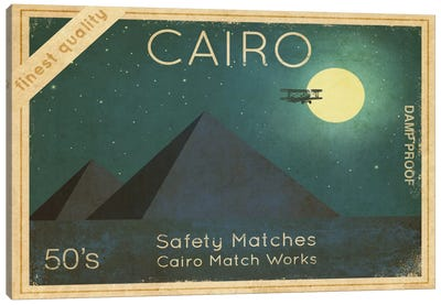 Cairo Safety Matches #1 Canvas Print #TFN23