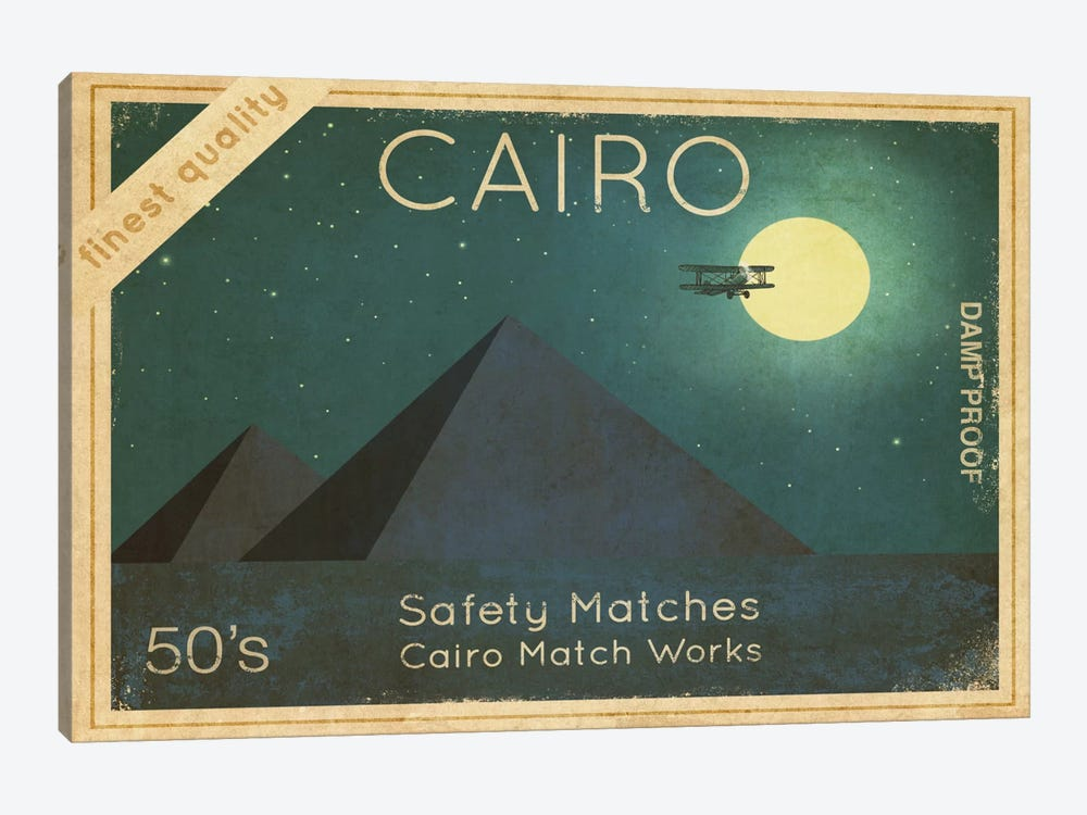Cairo Safety Matches #1 by Terry Fan 1-piece Canvas Wall Art