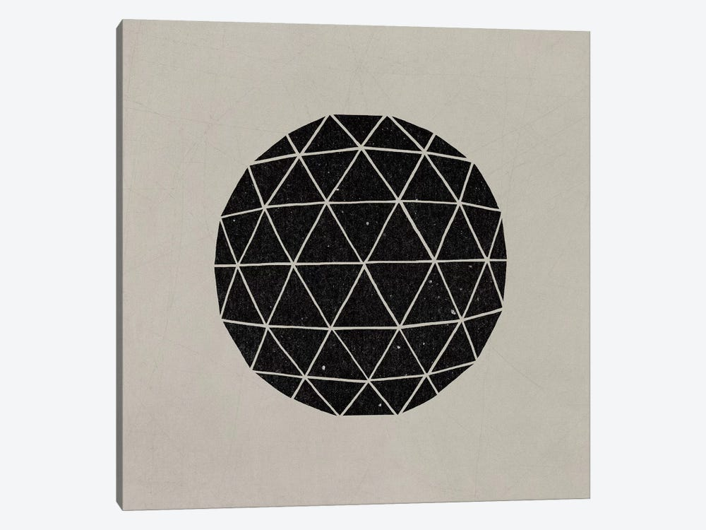 Dark Geodesic by Terry Fan 1-piece Canvas Artwork