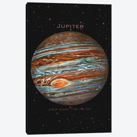 Jupiter Canvas Print #TFN244} by Terry Fan Canvas Wall Art