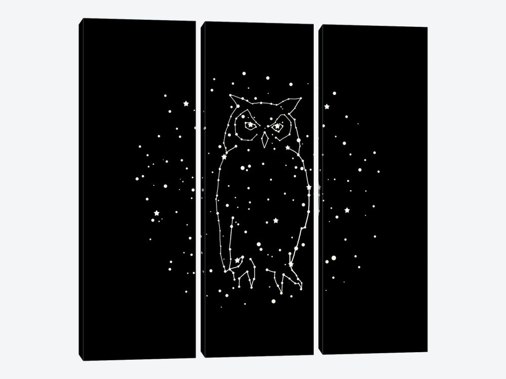 Owl Constellation by Terry Fan 3-piece Art Print