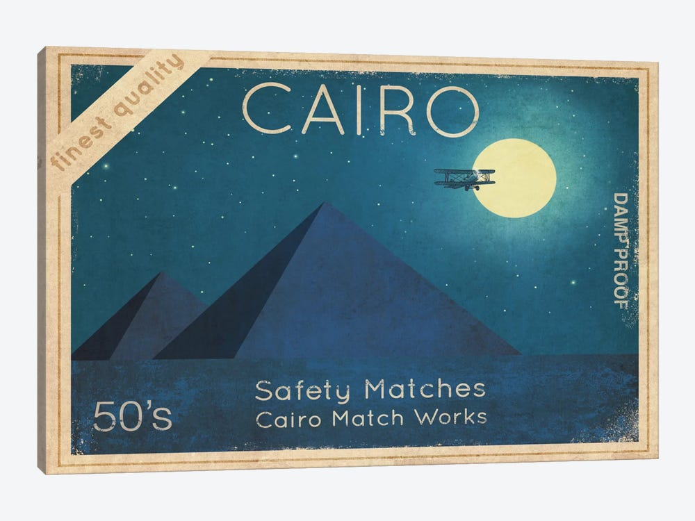 Cairo Safety Matches #2 by Terry Fan 1-piece Canvas Print