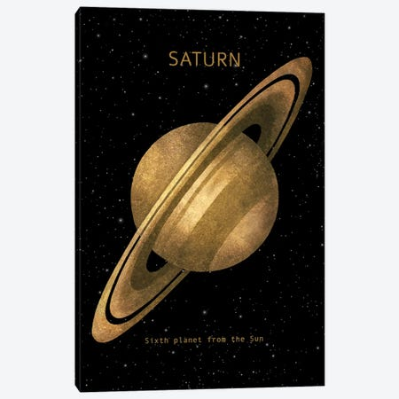 Saturn Canvas Print #TFN250} by Terry Fan Canvas Wall Art