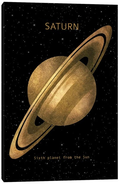 Saturn Canvas Art Print