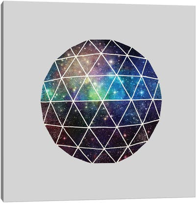Space Geodesic Canvas Art Print