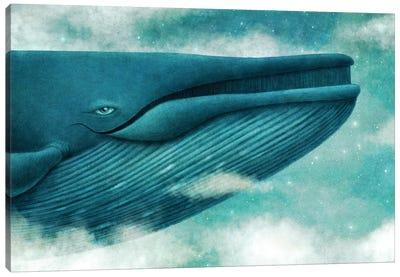 Dream Of The Blue Whale Canvas Art Print